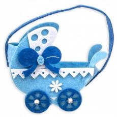 Bolsita para regalo carrito azul