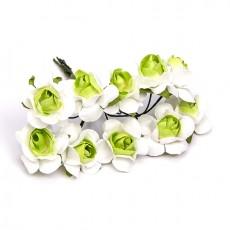 Flores para decorar bicolor