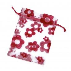 Bolsas de organza con flor