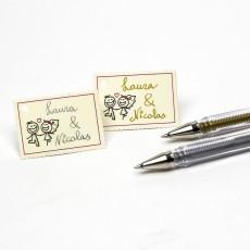 Bolígrafo de tinta color plata