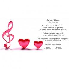 Invitaciones boda románticas