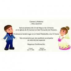 Tarjetas de invitación de boda