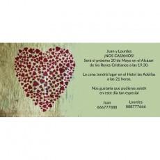 Invitación bonita de boda