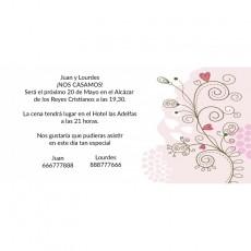 Invitaciones de boda con flores
