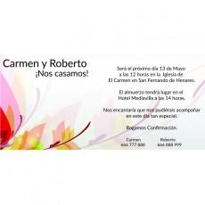 Invitaciones de boda invitados