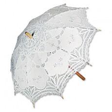Sombrilla novia blanca
