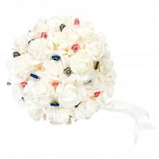 Bola de rosas para alfileres de novia